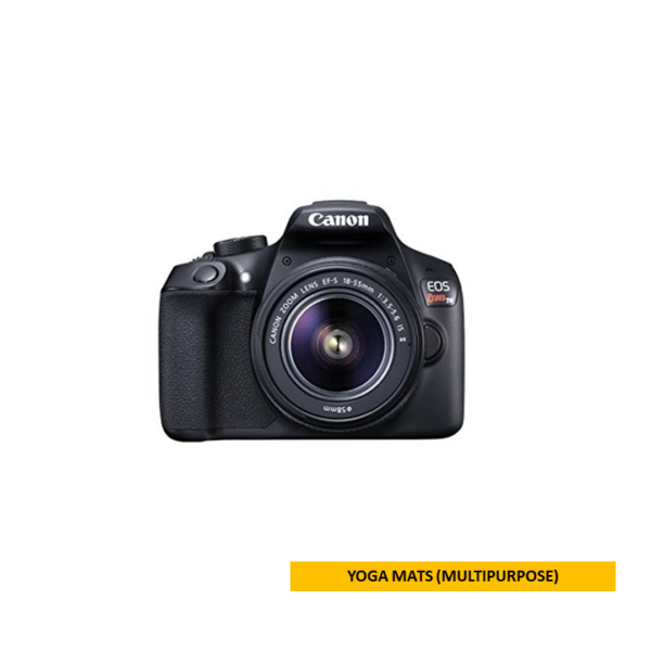 cb34eabc054 Canon Black EOS Rebel T6 EF-S IS Digital Camera with 18 Megapixels and  18-55mm Lens Included